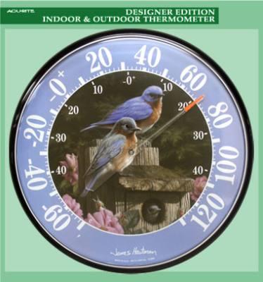James Hautman 12 1/2 in. Indoor/Outdoor Bluebird Thermometer