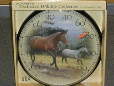 Decorative Horse & Colt Thermometer