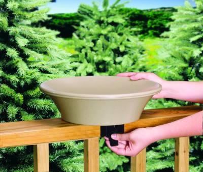 14 in. Non-Heated Bird Bath Deck/Pole