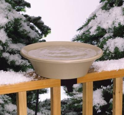 """Four Seasons Heated Bird Bath, 14"""""""