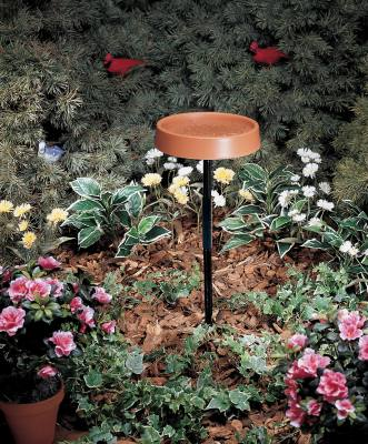 12 in. Heated Bird Bath w/Metal Stand