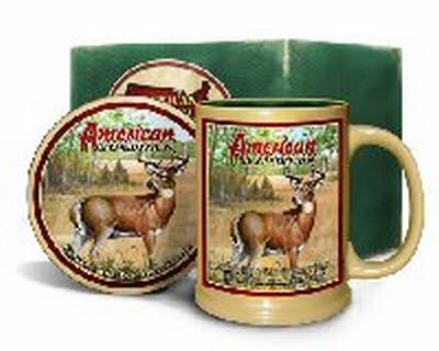 Whitetail Deer Mug & Coaster Set