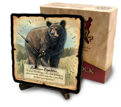 Black Bear Desk Clock