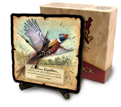Pheasant Desk Clock