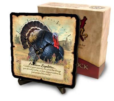 Wild Turkey Desk Clock