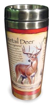 White Tail Deer Steel Mug