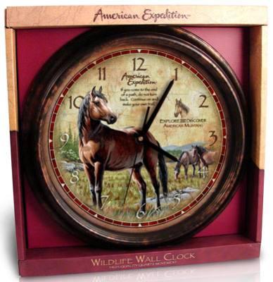 Wall Clock Mustang