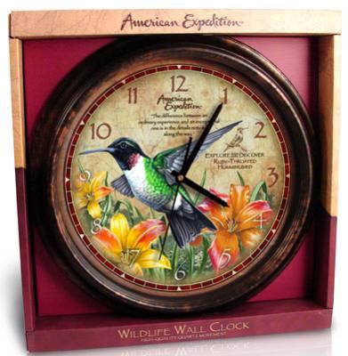 Wall Clock Hummingbird