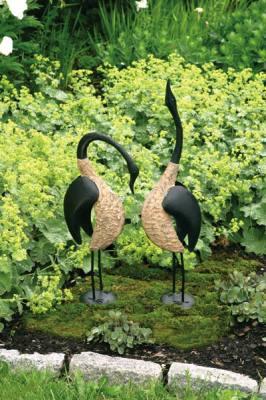 Pair of Steel Geese