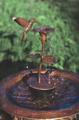 Copper Dripper/Fountain Hummingbird