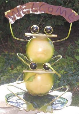 Metal Welcome Frog