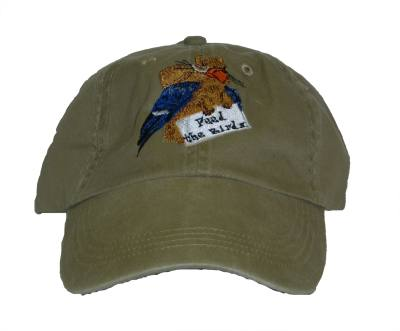 Feed the Birds Embroidered Cap-Green