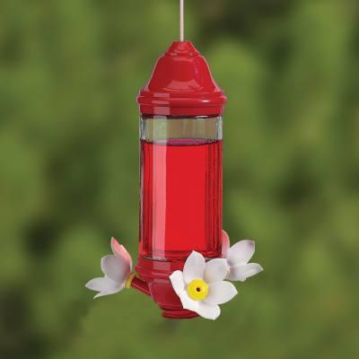 Crystal Lantern Hummingbird Feeder 8oz Glass