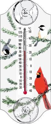 Cardinal/Chickadee Window Thermometer