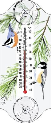 Chickadee/Nuthatch Thermometer
