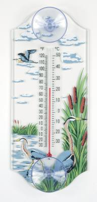 Great Blue Heron Window Thermometer