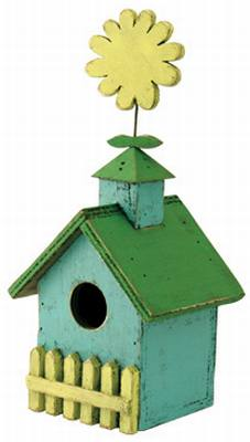 Birdhouse Flower Top