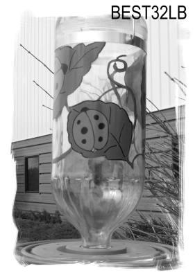 Hummingbird Feeder 32 oz.  Lady Bug Design