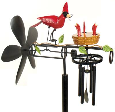 Cardinal Family Whirli-Chime
