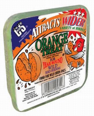 Orange Treat Wild Bird Suet Cake 11.75 oz.