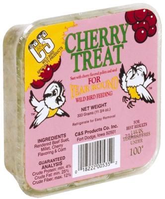 11.75 oz. Cherry Treat  Wild Bird Suet Cake