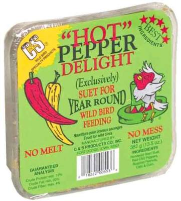 13.5 oz. Hot Pepper Delight/Dough  Wild Bird Suet Cake