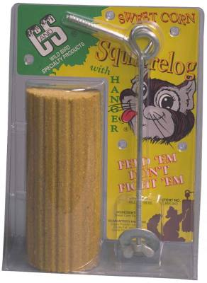 Sweet Corn Squirrel Log w/hanger