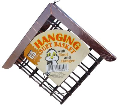Suet Basket with Copper Roof