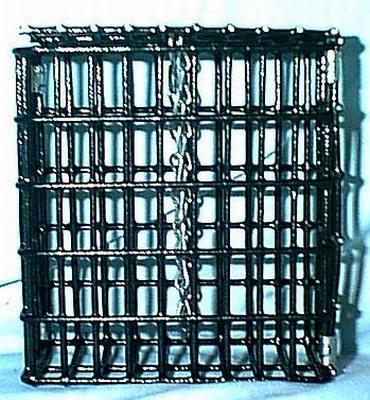 """Suet Feeder with Chain  2 X 4.5 X 5"""""""