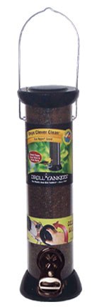 ONYX 2.75 in dia. 12 in Tube 2 port Nyjer Seed Feeder w/removable Base