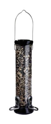 ONYX 2.75 in dia. 12 in Tube 2 port Sunflower/Mixed Seed Feeder w/removable Base