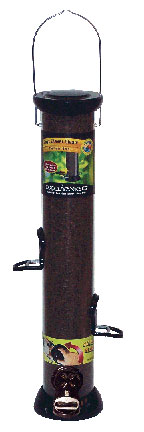 ONYX 2.75 in dia. 18 in Tube 4 port Nyjer Seed Feeder w/removable Base