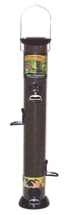ONYX 2.75 in dia. 24 in Tube 6 port Nyjer Seed Feeder w/removable Base