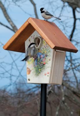10in. Flower Illustration Nest Box
