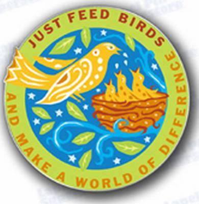 Just Feed Birds Lapel Pin