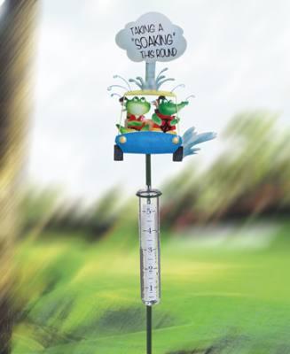Golf Cart Rain Gauge Staked