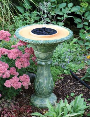 Firenze Solar Birdbath Fountain