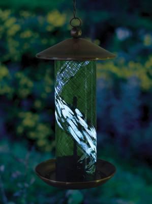 Illuminarie Green Swirl Bird Feeder