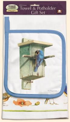 Bluebird Towel/Potholder Set