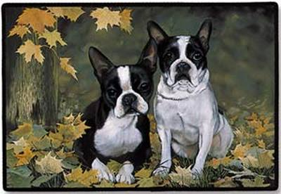 Boston Terrier Porch Doormat