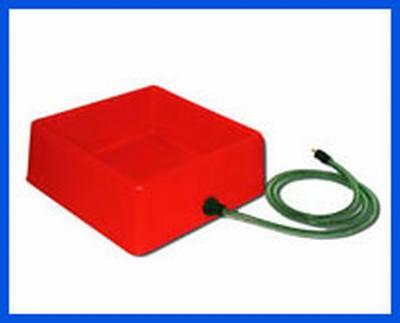 Square Heated Pet Bowl (60 Watt) Red