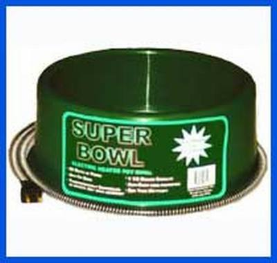 Round Heated Pet Bowl (60 Watt) Green