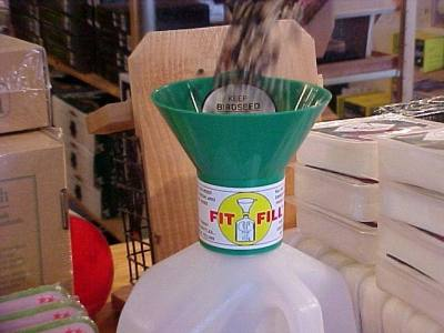 Green Birdseed Funnel