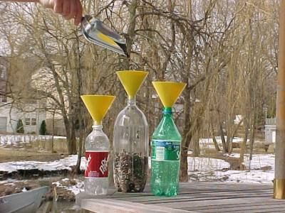 Yellow Soda Bottle Funnel