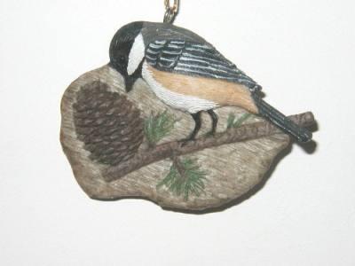 Chickadee/Pine Cone (ornament)