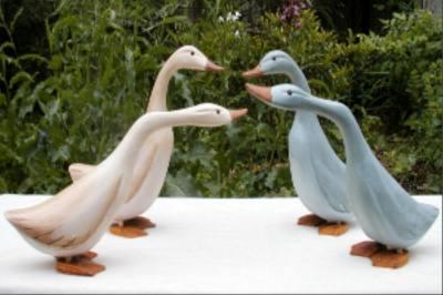 Set of 8 Wood Geese