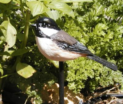 Chickadee Garden Bird Stick