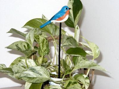 Bluebird Garden Bird Stick