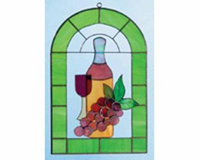 Red Wine and Grapes 3-D Windows