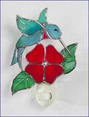 Hummingbird/Red Blossom Night Light